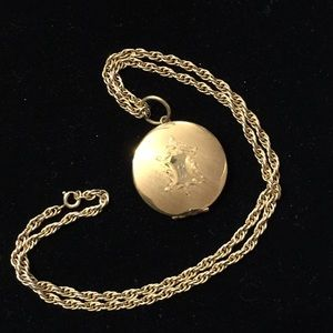 1/20 12k gold filled chain & locket